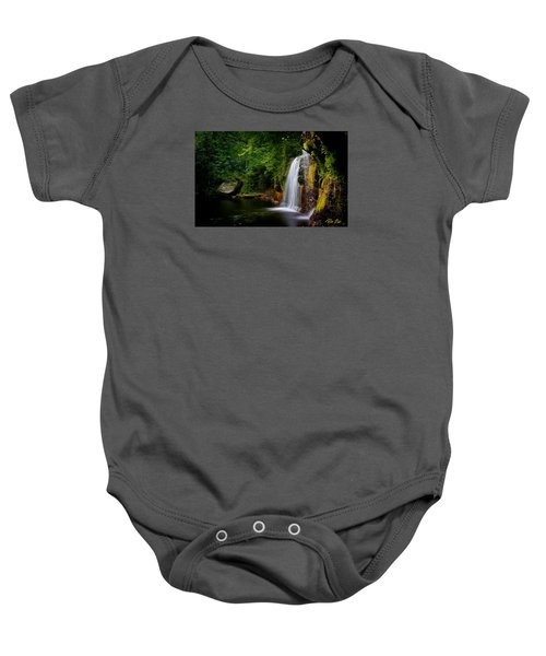 Baby Onesie featuring the photograph Summer At Wolf Creek Falls by Rikk Flohr
