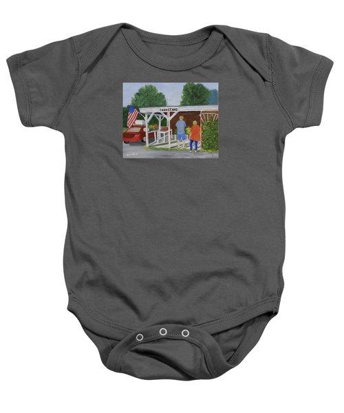 Summer Farm Stand Baby Onesie
