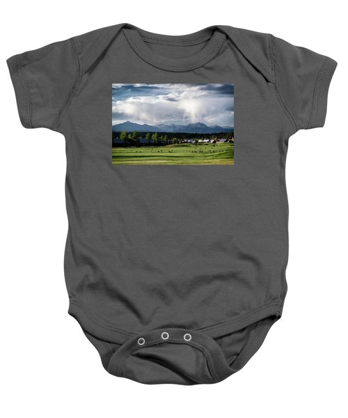 Summer Mountain Paradise Baby Onesie