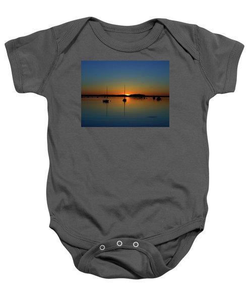 Summer Sunset Monument Beach Baby Onesie