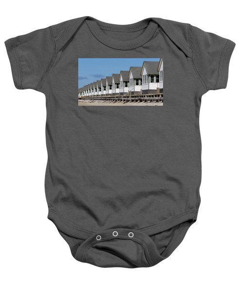 Summer Vacation Cottages At The Beach Baby Onesie