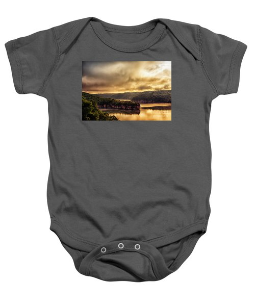 Summersville Lake At Daybreak Baby Onesie