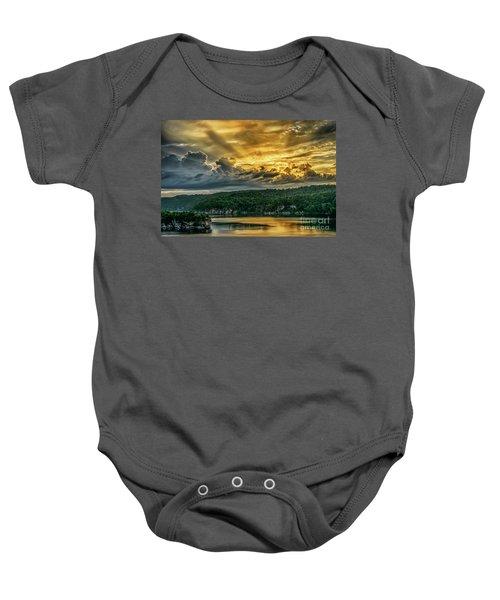 Summersville Lake Sunrise Baby Onesie