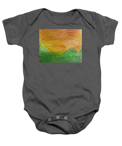 Sun And Grass In Harmony Baby Onesie