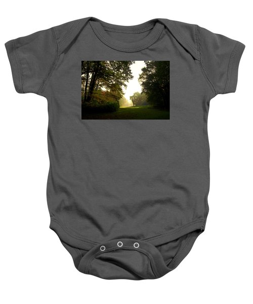 Sun Beams In The Distance Baby Onesie