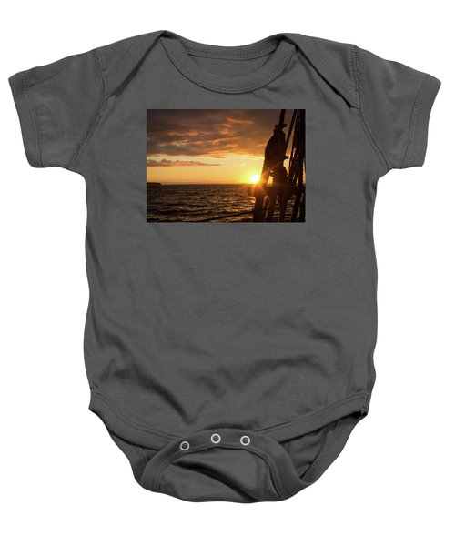 Sun On The Horizon Baby Onesie