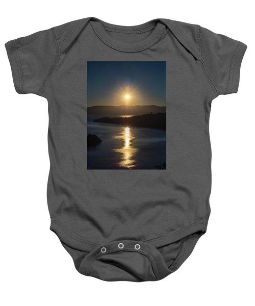 Sun Rising Over Lake Tahoe Baby Onesie