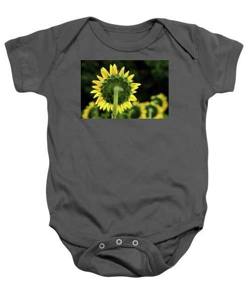 Sunflower Back Baby Onesie