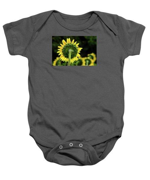 Sunflower Back Baby Onesie
