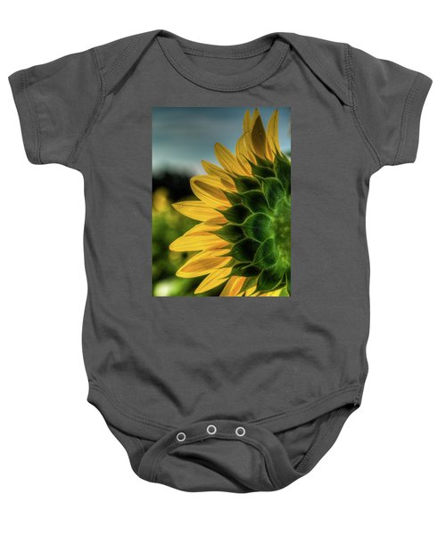Sunflower Blooming Detailed Baby Onesie