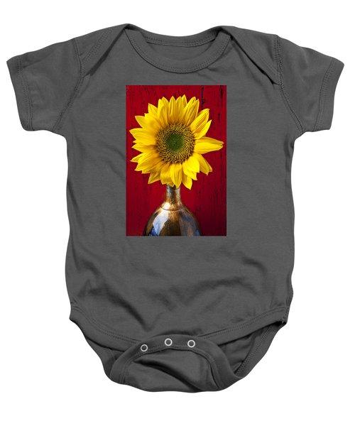 Sunflower Close Up Baby Onesie