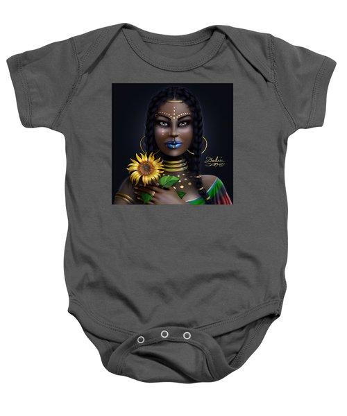 Sunflower Goddess  Baby Onesie