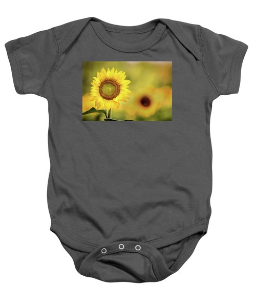 Sunflower In A Field Baby Onesie