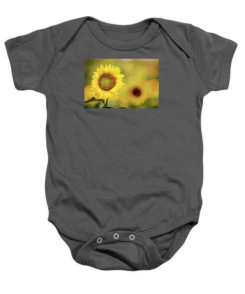 Sunflower In A Field Baby Onesie