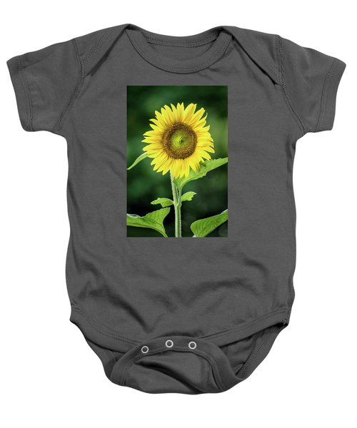 Sunflower In Bloom Baby Onesie