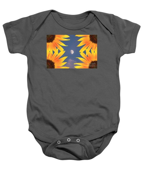 Sunflower Moon Baby Onesie
