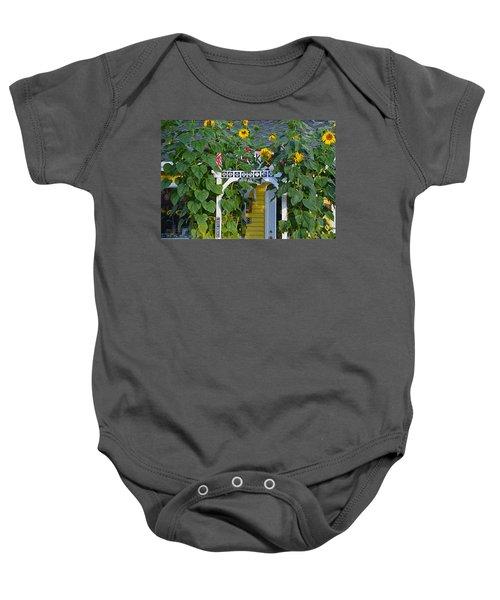 Sunflower Roads Baby Onesie