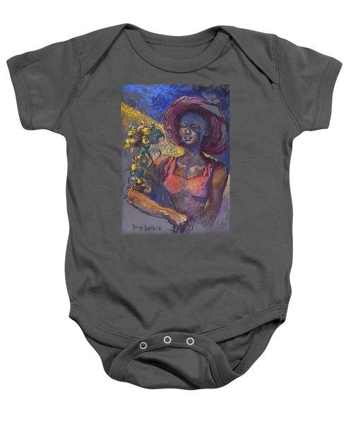 Sunflower Woman Baby Onesie