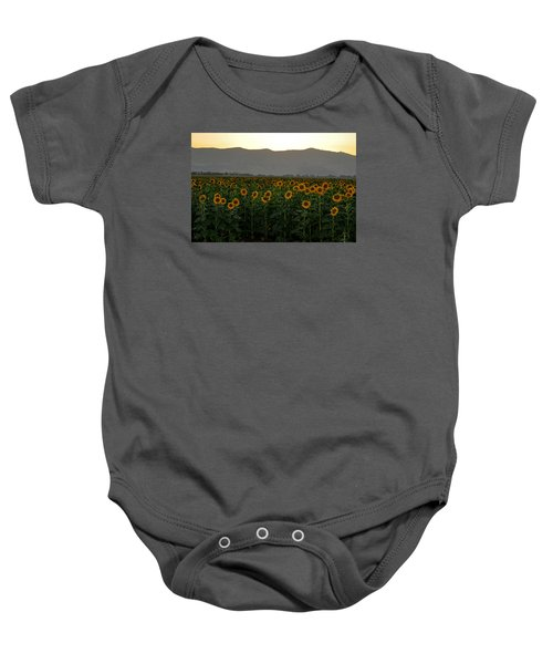Baby Onesie featuring the photograph Sunflowers by Dubi Roman
