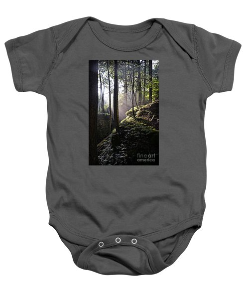Sunlight Through Trees At Beartown State Park 3129c Baby Onesie