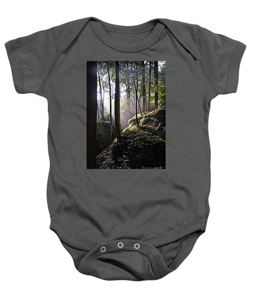 Sunlight Through Trees At Beartown State Park 3129c Baby Onesie