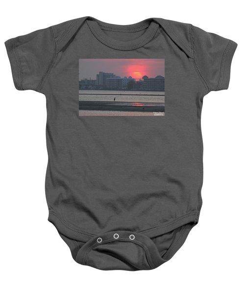 Sunrise And Skyline Baby Onesie