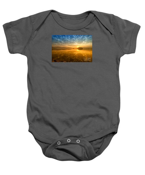 Sunrise At Jal Mahal Baby Onesie