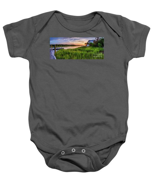 Sunrise At The Boat Ramp Baby Onesie