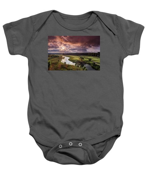 Sunrise At The Course Baby Onesie