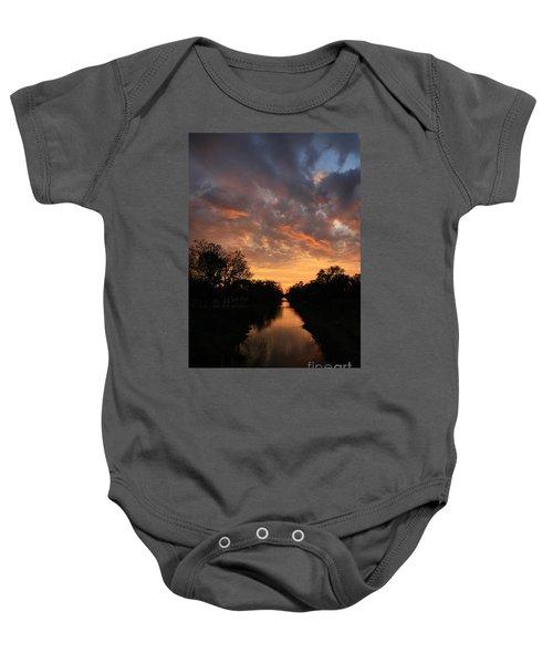 Sunrise On The Illinois Michigan Canal Baby Onesie