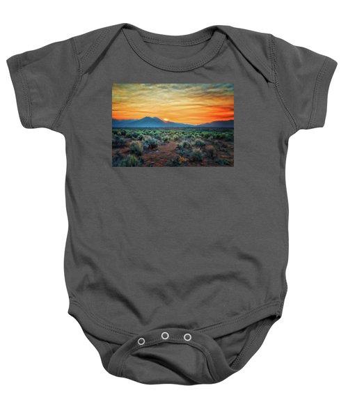 Sunrise Over Taos II Baby Onesie