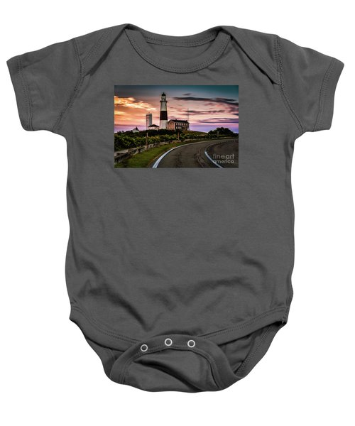 Sunrise Road To The Montauk Lighthous Baby Onesie
