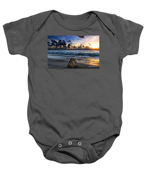 Sunrise Seascape Wisdom Beach Florida C3 Baby Onesie
