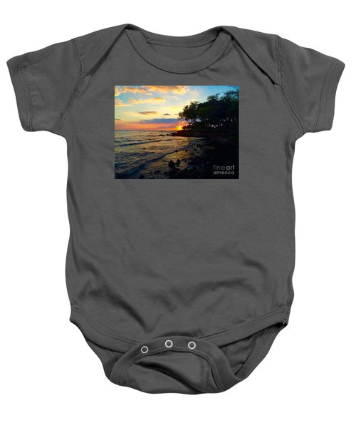 Sunset At A-bay Baby Onesie