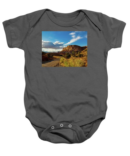 Sunset At Capitol Reef Baby Onesie