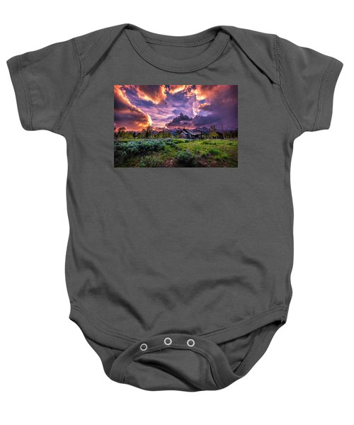 Sunset At Chapel Of Tranquility Baby Onesie