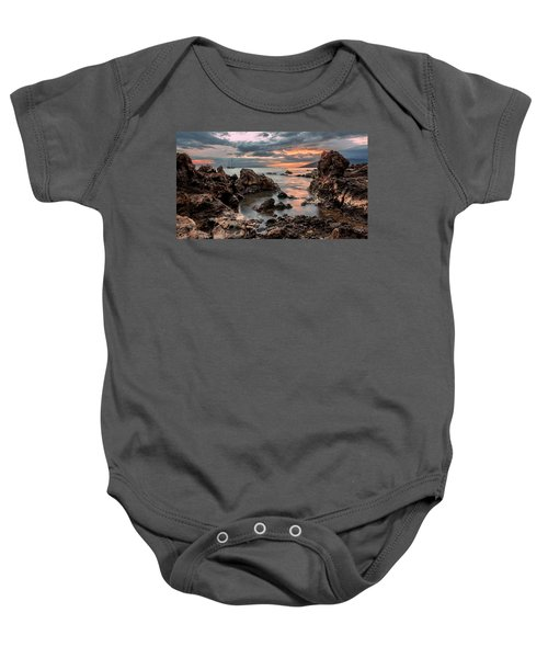 Sunset At Charley Young Beach Baby Onesie