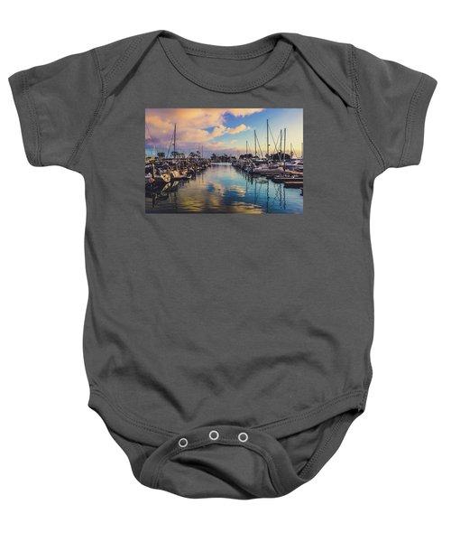Sunset At Dana Point Harbor Baby Onesie