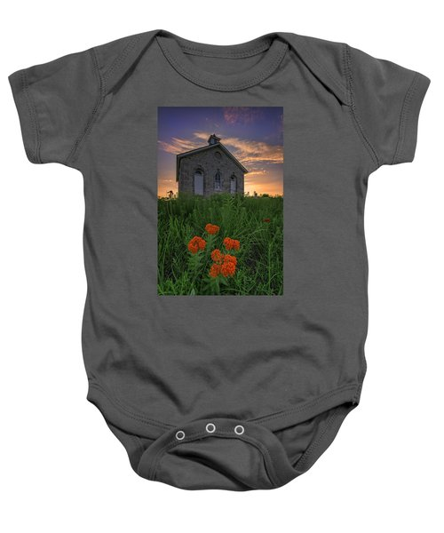 Sunset At Lower Fox Creek Schoolhouse Baby Onesie
