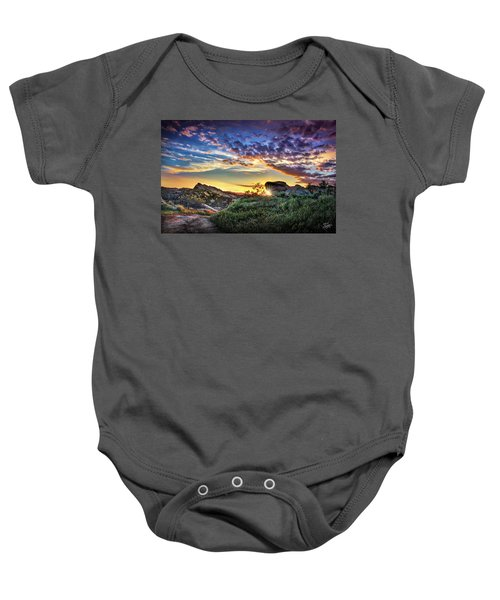 Sunset At Sage Ranch Baby Onesie