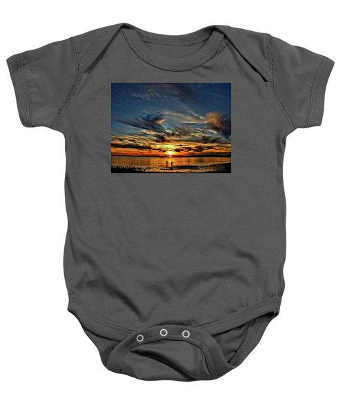 Sunset At The Waters Edge Baby Onesie