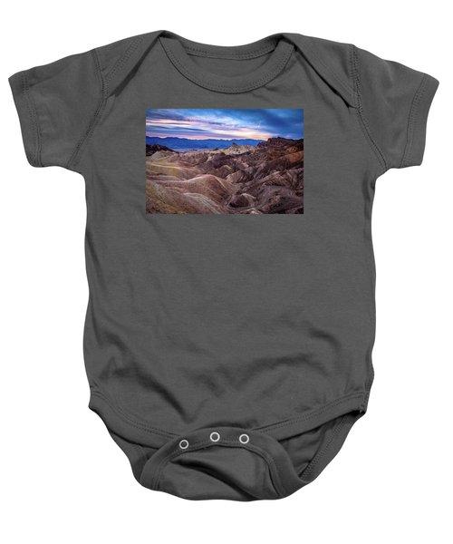 Sunset At Zabriskie Point In Death Valley National Park Baby Onesie