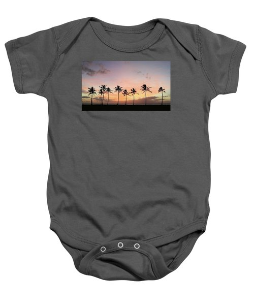 Sunset Behind The Palms Baby Onesie