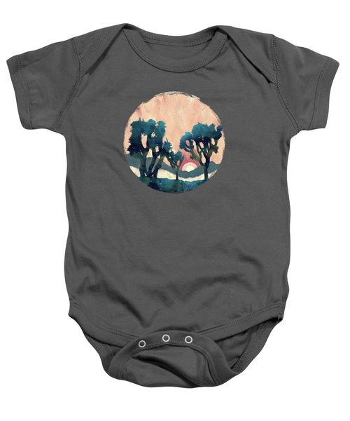 Sunset Desert Canyon Baby Onesie