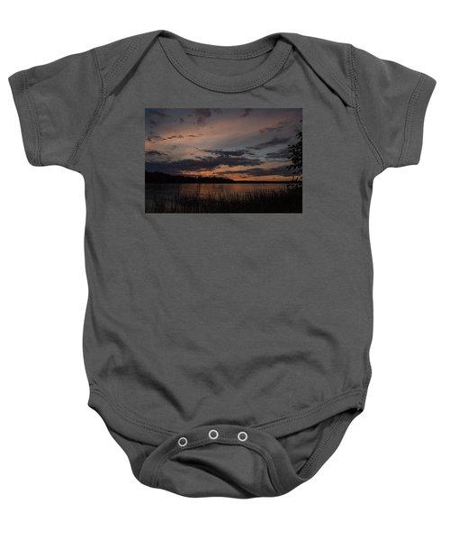 Sunset From Afternoon Beach Baby Onesie