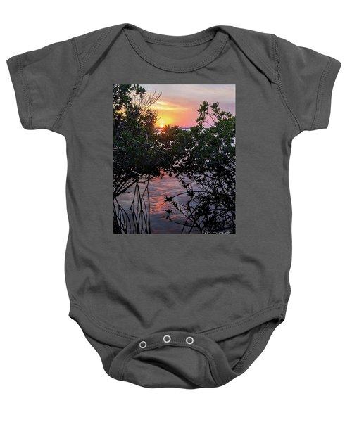 Sunset, Hutchinson Island, Florida  -29188-29191 Baby Onesie