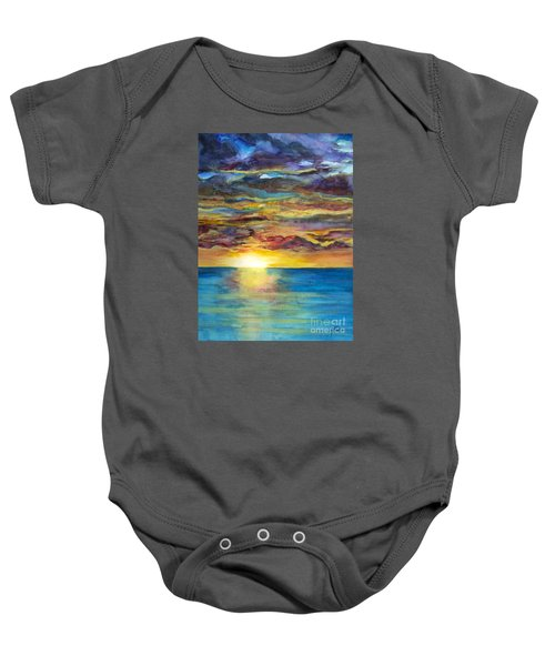Sunset II Baby Onesie by Suzette Kallen