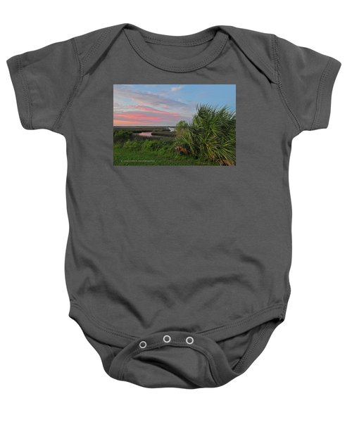 D32a-89 Sunset In Crystal River, Florida Photo Baby Onesie