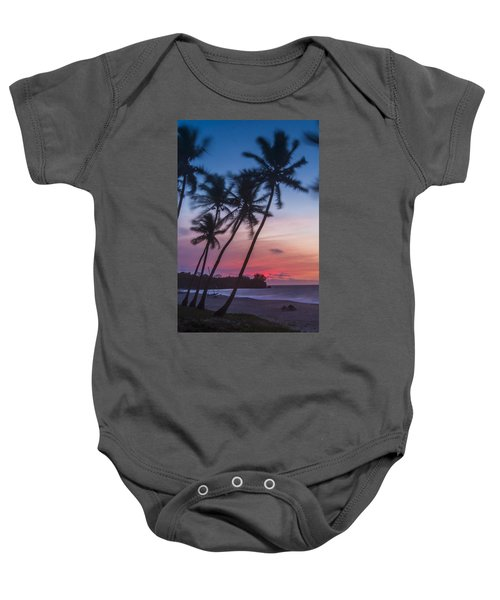 Sunset In Paradise Baby Onesie by Alex Lapidus
