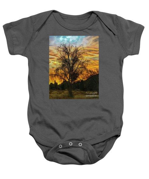 Sunset In Perris Baby Onesie